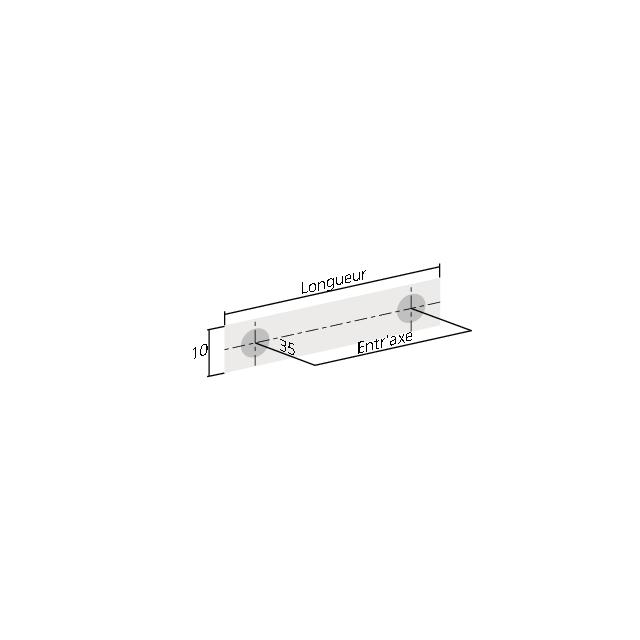 Poignée bâton inox 10mm