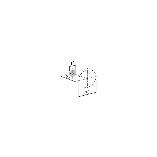Bouton conique sur embase