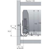 Kit tiroir Arcitech Hettich Hauteur 126mm