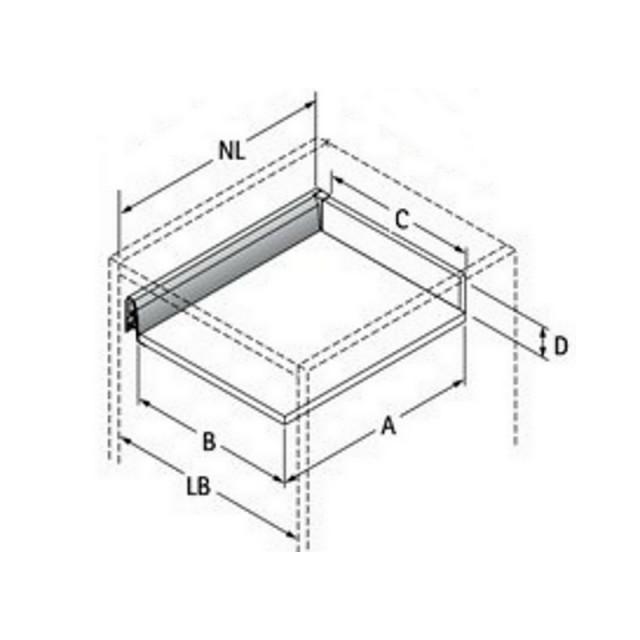 Kit tiroir Casserolier Hettich Hauteur 218mm