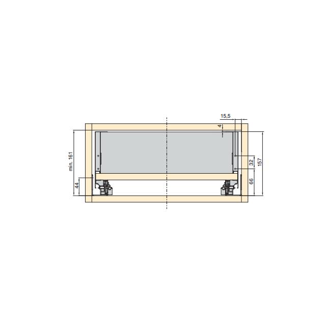 Tiroir concept hauteur 138mm