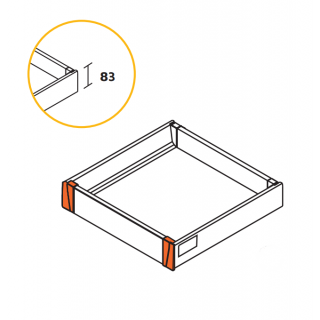 Kit tiroir Vantage Q à l'anglaise hauteur 83mm