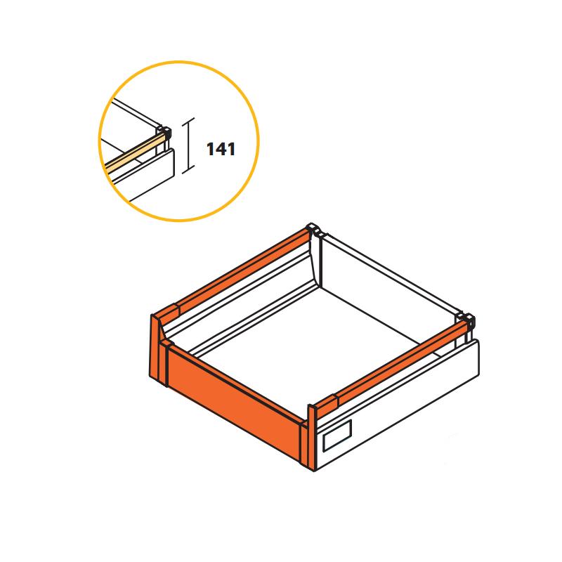 Kit tiroir Vantage Q à l'anglaise hauteur 141mm