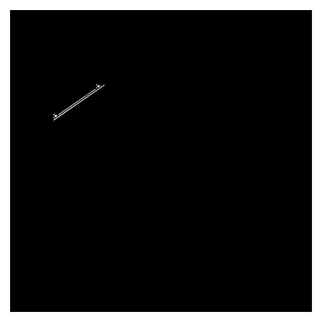 Porte rouleau cranté en inox