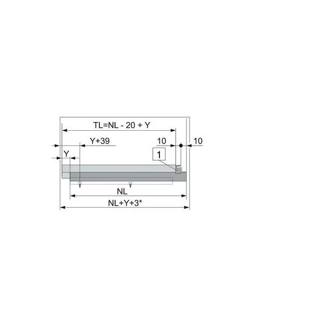 Coulisse invisible pour tablette bois - BLUM