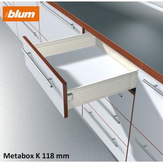 Kit tiroir Metabox Hauteur K 118 mm