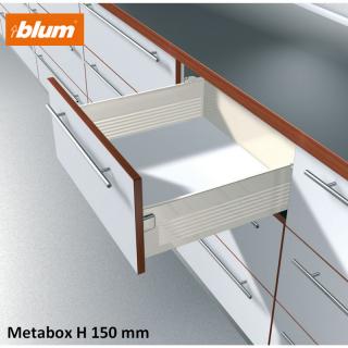 Kit tiroir Metabox Hauteur H 150 mm