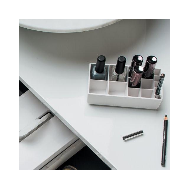Accessoires blanc pour tiroir de salle de bain