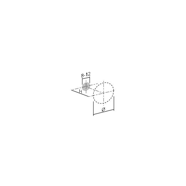 Bouton conique strié
