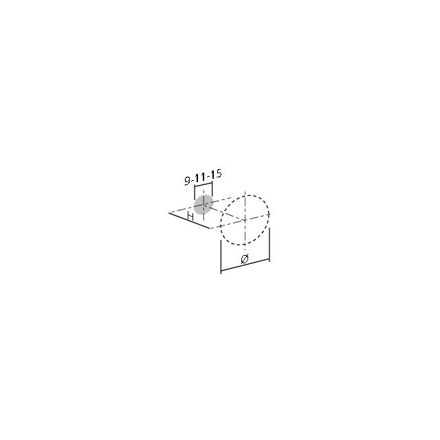 Bouton conique et strié