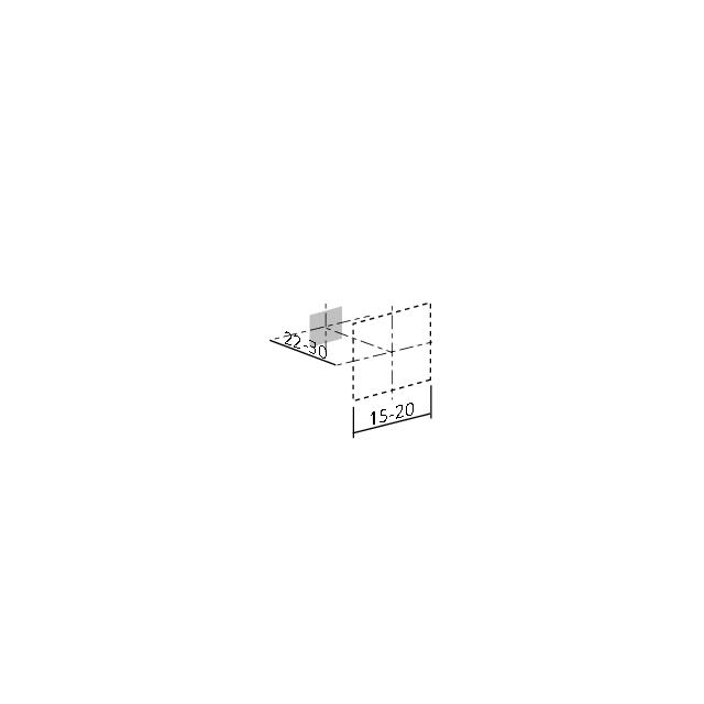 Bouton carré à encoche